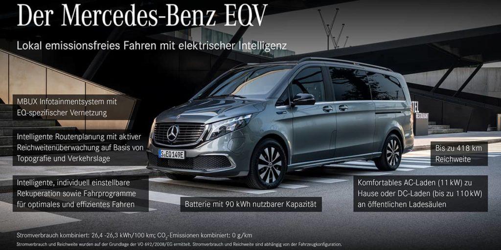 Mercedes EQV Ausstattung