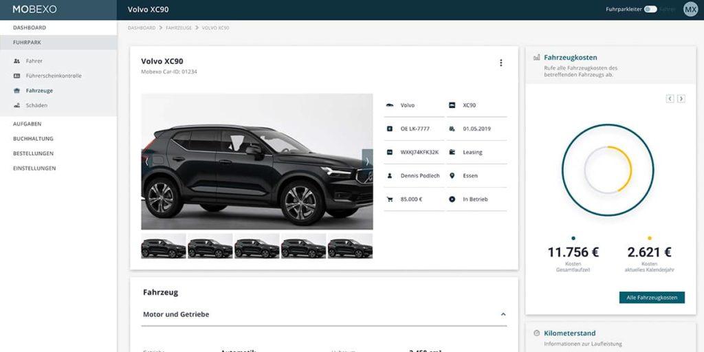 Digitale Fahrzeugakte der Mobexo Software